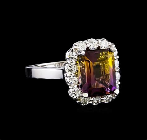ametrine 28 50ct 3 50 ctw ametrine and ring 14kt white gold