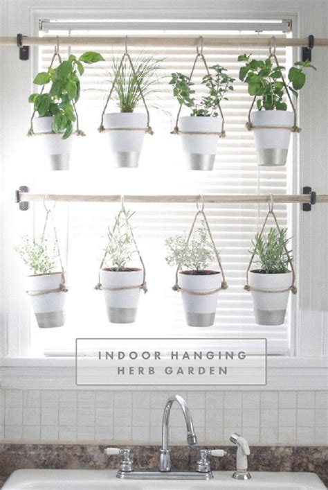 diy hanging herb garden 13 peaceful diy indoor garden ideas that brings the