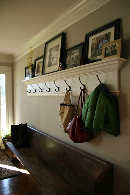 easy   entryway  hooks  photo ledge home