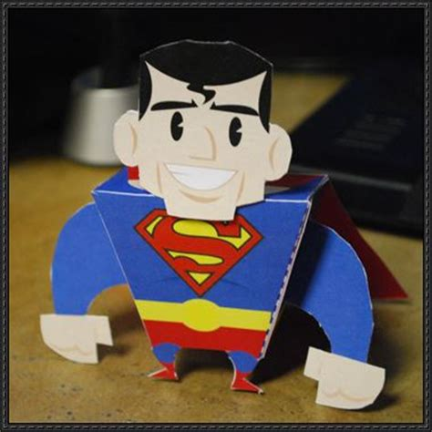 Superman Papercraft - of steel superman free paper
