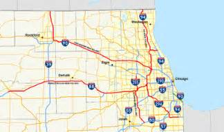 Chicago Tolls Map by Illinois State Toll Highway Authority Wikipedia