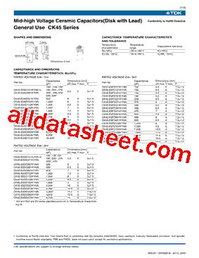 tdk capacitors datasheet ck45 b3ad101kynn datasheet pdf tdk electronics