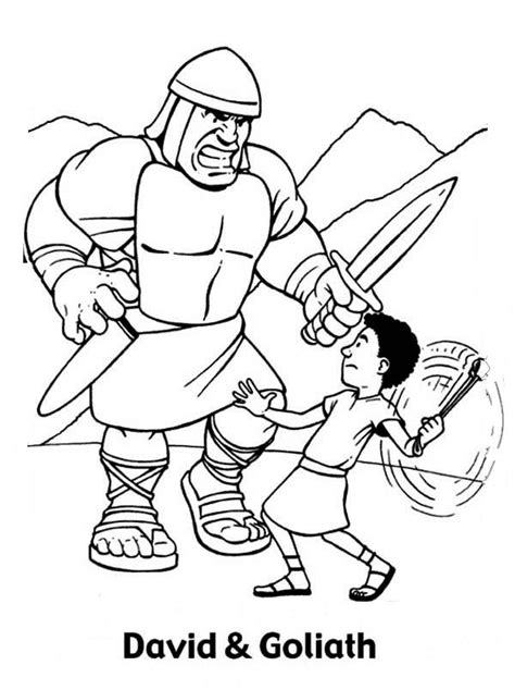 coloring page for david and goliath david and goliath coloring pages to download and print for