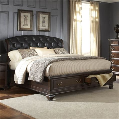 King Size Bed With Leather Headboard by Image King Size Platform Bed With Leather Headboard