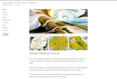 art gallery themes wordpress wordpress for artists themes