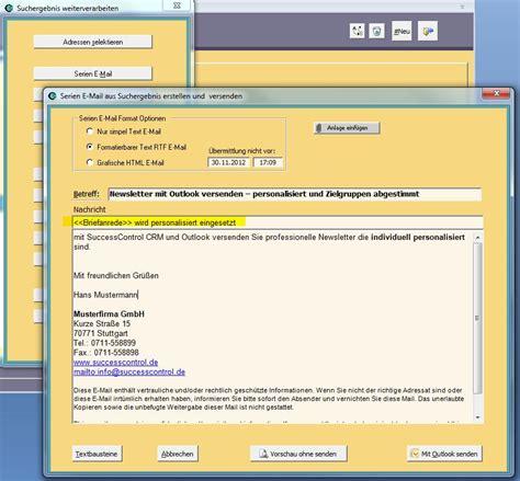 outlook newsletter erstellen mit bildern grafiken und allgemein crm software genial einfach crm software