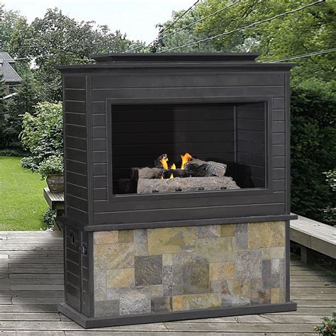 Outdoor Gas Fireplace Lowes by Sunjoy D Of005pco Lp Gas Fireplace Lowe S Canada