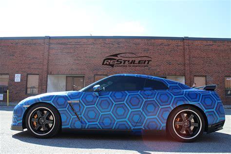 printable vinyl car wrap custom print tron nissan gtr vehicle customization shop