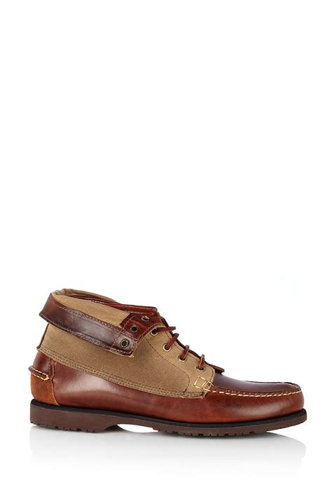 sebago boots sebago cedar brown fold vane exo boots in brown for