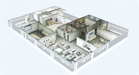 3d office floor plan 3d floor plans rendersphere