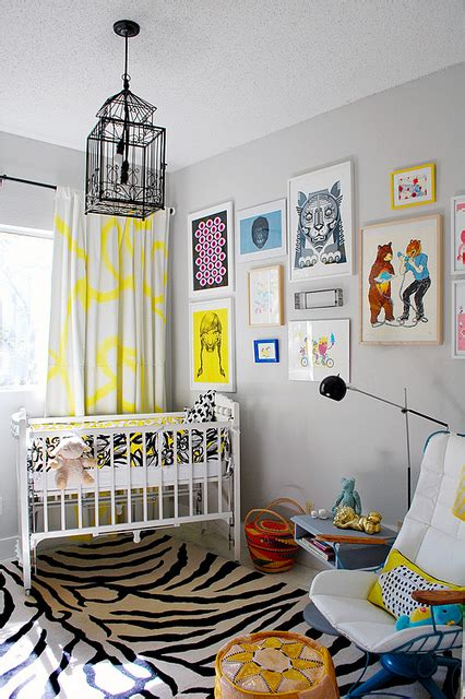 Yellow And Grey Nursery Curtains Yellow And Gray Nursery Contemporary Nursery