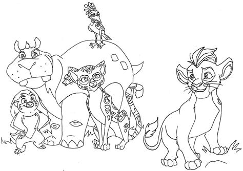 coloring pages lion guard the lion guard by zealousshadow on deviantart