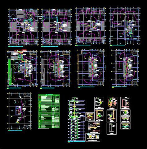 communications planning cctv detection dwg full project