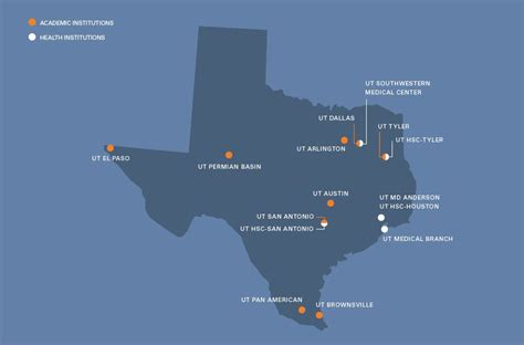 map of texas colleges and universities information for federal policymakers university of texas system