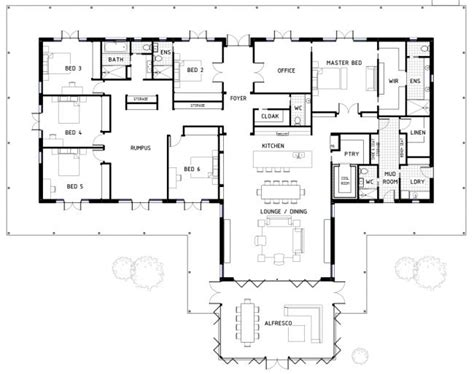 Best 25 6 Bedroom House Plans Ideas On Pinterest 6 Bedroom House House Blueprints