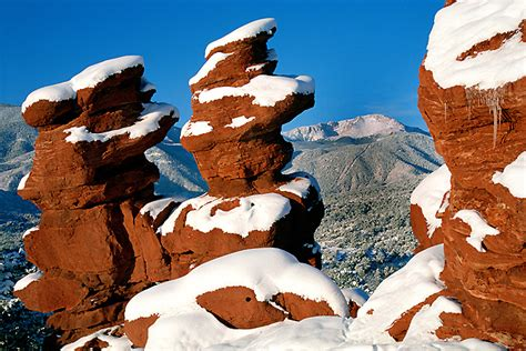 Garden Of The Gods Winter by Colorado Photograph Winter Garden Of The Gods