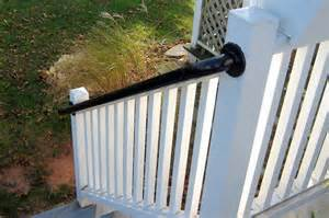 Installing Handrails On Deck Stairs Easy To Install Metal Deck Railing