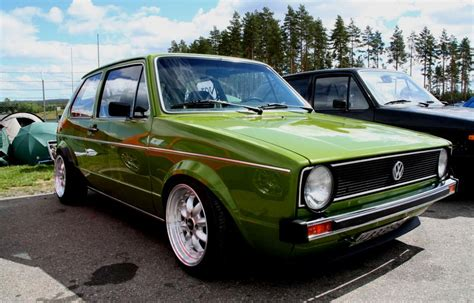 Green Volkswagen Golf Mk1 Vw Golf Tuning