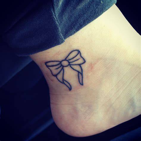 tattoo placement ideas bow ankle placement simple outline
