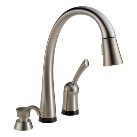 touch sensitive kitchen faucet 980t sssd dst single handle pull down kitchen faucet