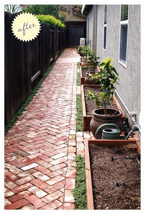 images  narrow side yard ideas  pinterest