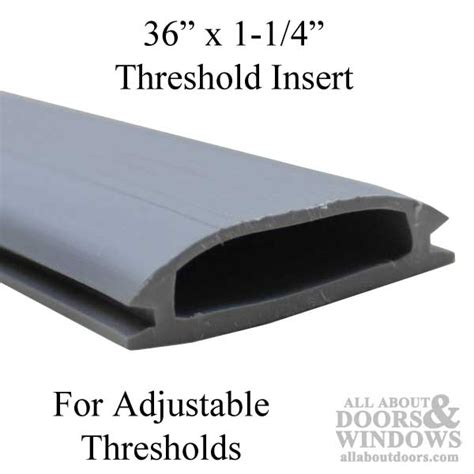 door threshold replacement parts 36 inch by 1 1 4 inch vinyl threshold replacement insert