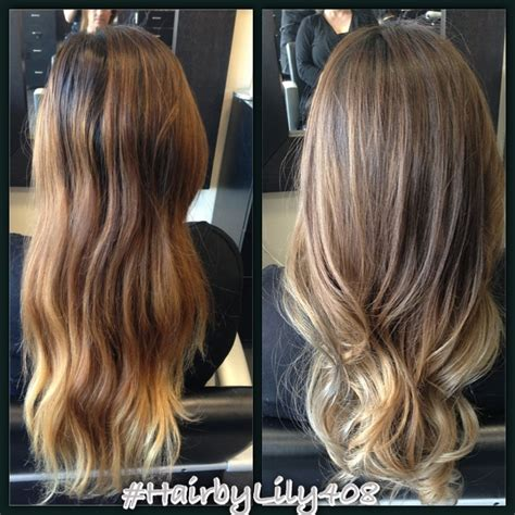 cover up ombre hair changed the brassy hair to something more natural and ashy