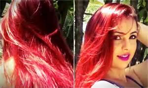 como pintar o cabelo de vermelho cereja intensificado doovi