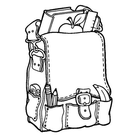 school bag coloring page dibujos de mochila para colorear