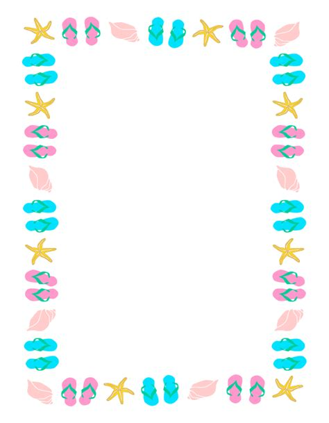 May Borders Clipart by Summer Borders Clipart