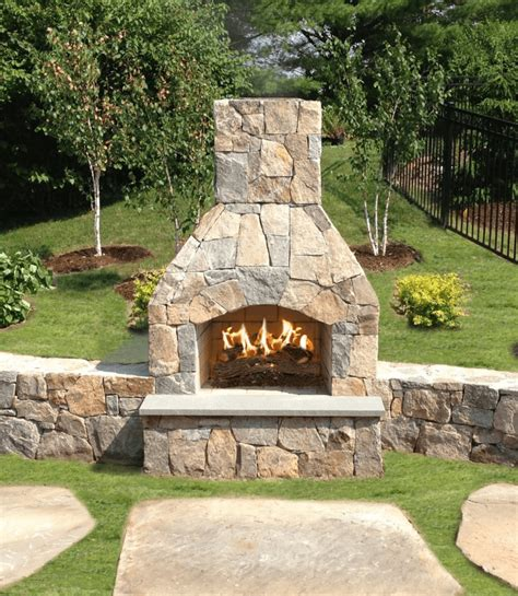 Wood Fireplace Kit by Outdoor Fireplace Kits Stonewood Products Cape Cod Ma