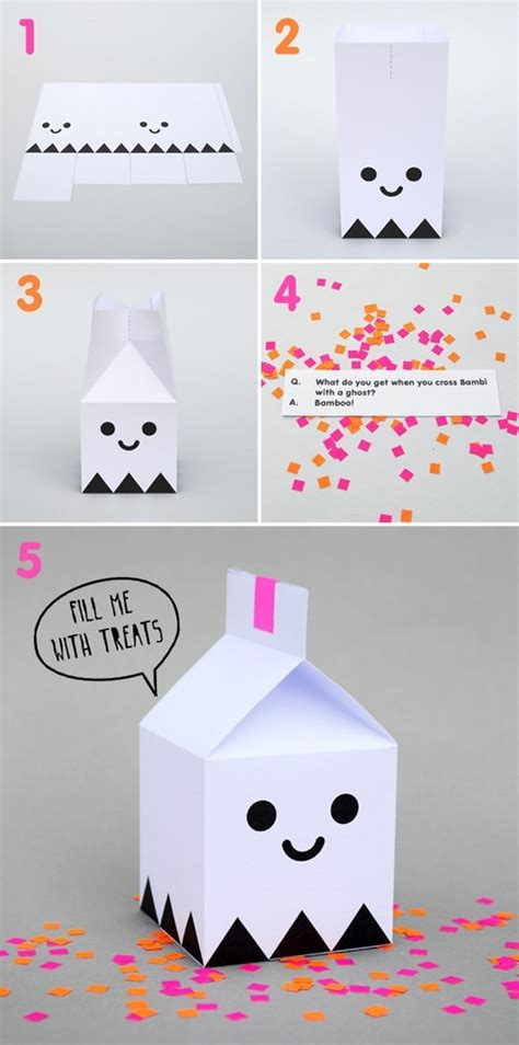 cute halloween treat box template diy crafts pinterest