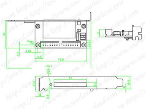 Sata Ii To Cf Adapter With Mounting Bracket slci4006 bracket 40 pin ide to cf card adapter