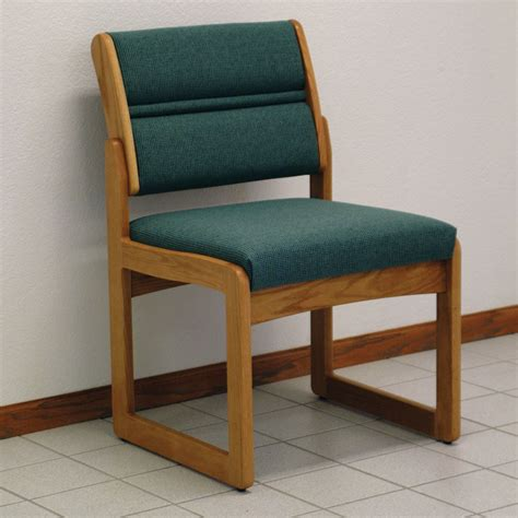 Small Armless Chair Single Armless Oak Chair