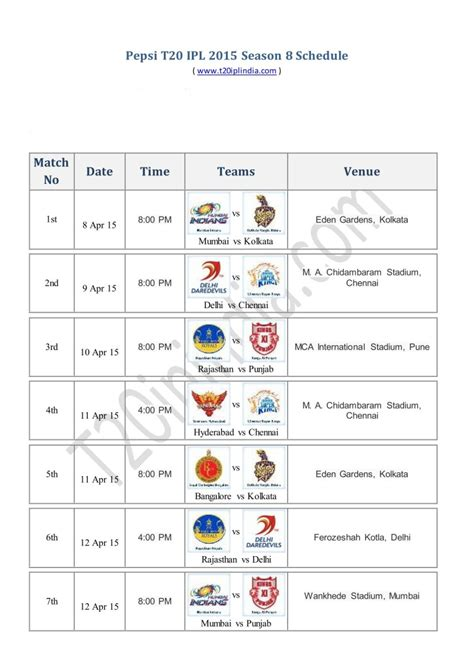 new ipl mach list download ipl 2013 pdf schedule time table and fixtures
