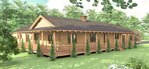 ranch style log home floor plans home plans one story log cabins ranch style single cabin
