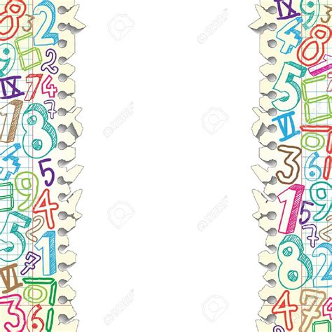 background design numbers math page border clip art 69