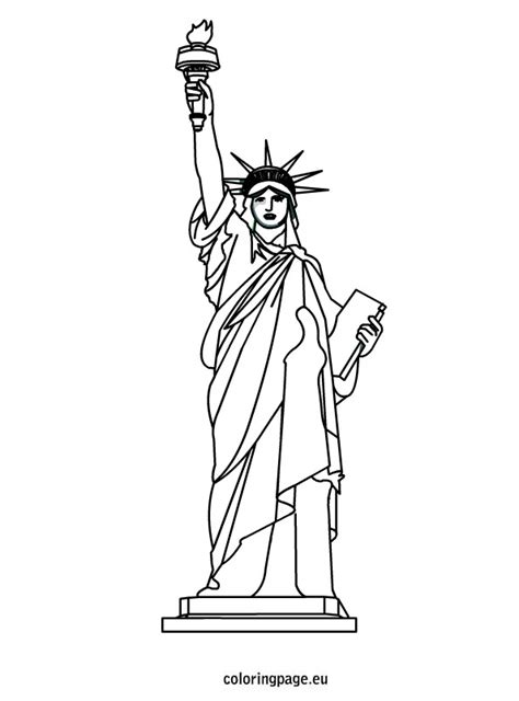 statue of liberty coloring page easy statue of liberty coloring sheet