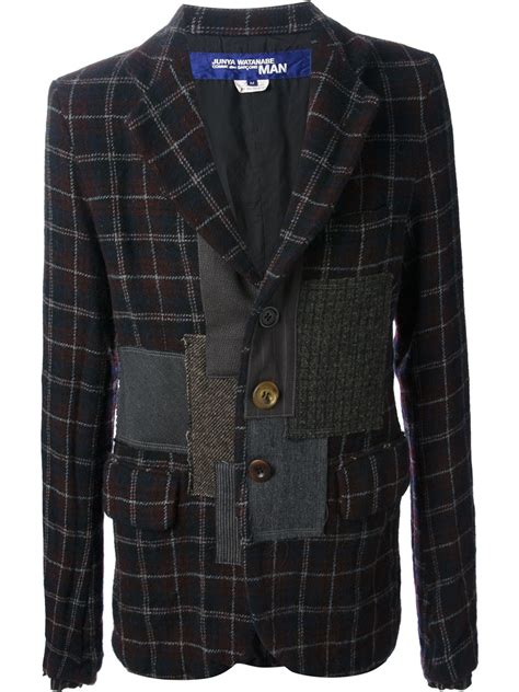 Junya Watanabe Patchwork - junya watanabe patchwork jacket in gray for lyst