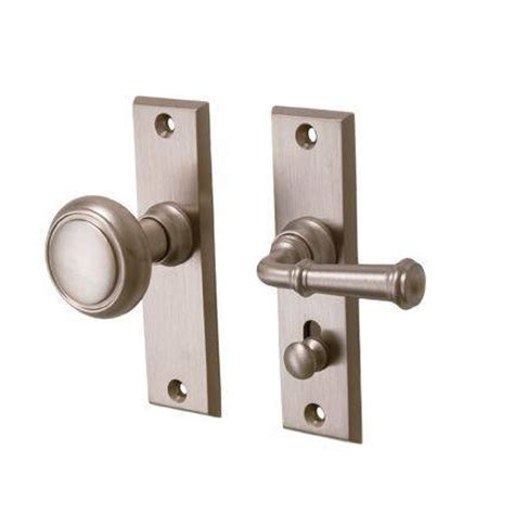Latch Door Knob by Merit Screen Door Privacy Latch Set Solid Brass Lever By