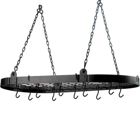 Hanging Pot Rack by Hanging Pot Rack Oval In Hanging Pot Racks