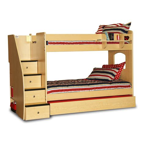 Bunk Bed Stairway Enterprise Bunk Bed With Panels And Stairway At Hayneedle