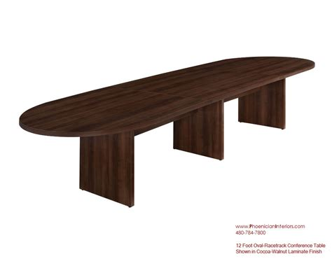 Laminate 12 Foot Oval Racetrack Expandable Conference 12 Foot Conference Table