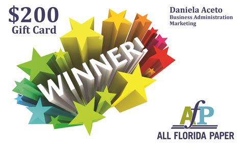 Card Winner by Fiu Career Fair Gift Card Winner Announced All Florida Paper