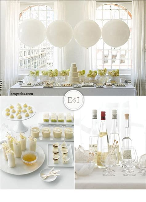 white and engaged inspired wedding planning