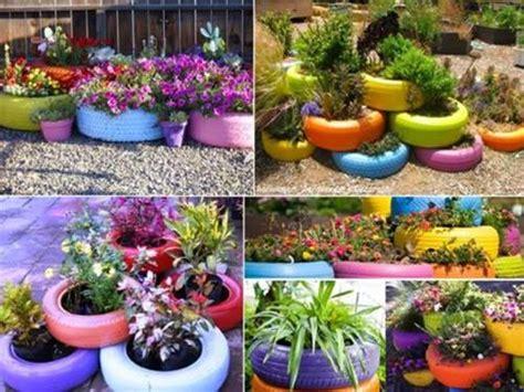 Jardines De Llantas | decoracion de jardines con llantas