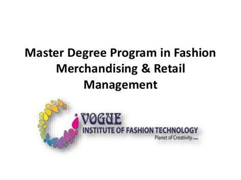 Masters In Fashion Designing Mba Course by Master Degree Program In Fashion Merchandising Retail