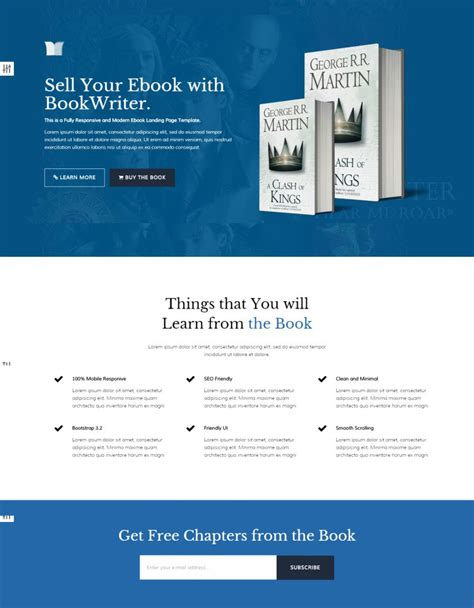 ebook landing page template ebook landing page templates themes free premium