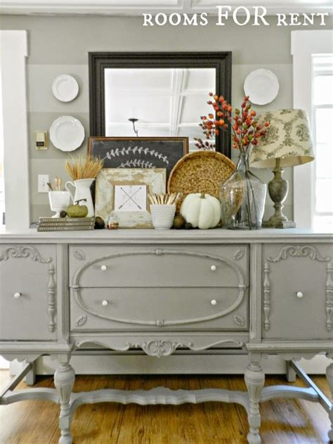 Dining Room Buffet Makeover Gorgeous Buffet Makeover Staged For Fall From Rooms For