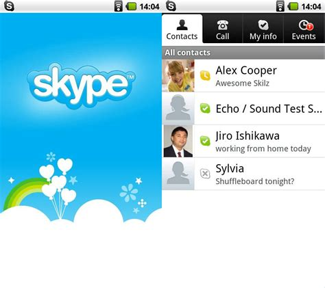 skype on android new skype for android unlocks voip 3g wi fi calling eurodroid